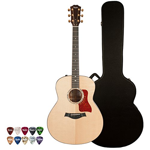 Taylor Guitars 6 String Limited Edition Custom 518E Grand Orchestra Acoustic-Electric Guitar with Hardcase & Pick Sampler, Right Handed (JB-518E-KIT-2)