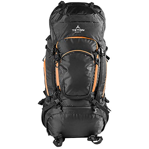 """TETON Sports Grand 5500 Ultralight Plus Backpack; Lightweight Hiking Backpack for Camping, Hunting, Travel, and Outdoor Sports , Black, 34"""" x 15"""" x 17"""""""