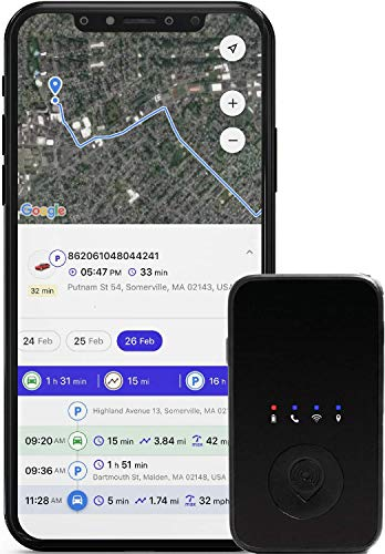 PrimeTracking Personal GPS Tracker- Mini, Portable, Track in Real Time - 4G LTE - SOS Button - Locator Tracking Device - for Kids, Spouses, Seniors, Pets, Cars, Trucks, Travel - Subscription Required